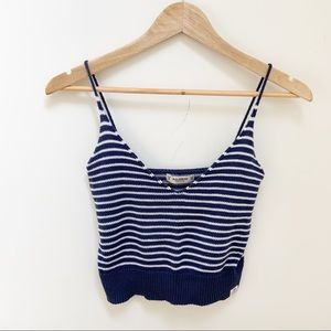 Pull and Bear striped knit tank top S